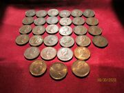 Canada Coins- Lot Of 31 Small Canadian Cents 1941 To 1982- Very Good And Better