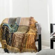 Cotton Blanket Sofa Summer Bedspread Queen King Size Plaid Bed Towel Comfortable