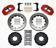 Wilwood Narrow Superlite 6r Front Hat Kit 13.06in Drilled Red E36 Bmw M3