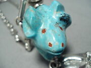 Very Important Navajo Ben Begaye Turquoise Fetish Sterling Silver Necklace