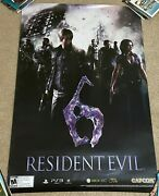 Rare 2012 Capcom Resident Evil 6 Re6 Promo Poster 36and039and039 X 24and039and039 Ps3 Xbox 360