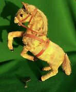 Clockwork Toy Prancing Horse With Key. Working Order Made In U.s Zone Germany
