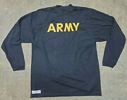 Us Army Apfu Physical Fitness Pt Long Sleeve T-shirt X-large