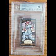 2012 Topps Gypsy Queen, Mini Black, Mike Trout. Bgs Mint 9. Pop 2 None Higher