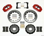 Wilwood Narrow Superlite 6r Front Hat Kit 13.06in Drill Red 2005-2014 Mustang