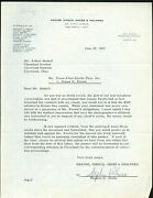 June 25, 1965 Series Of Letters To Browns Art Modell And Jim Brown 144991
