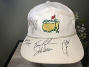 1995 Masters Golf Derby Cap With Signatures/autographs And Practice Round Ticket