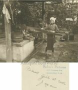 Peasant Girl By Well Japan Antique Art Photo By Baker