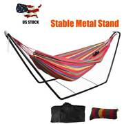 Portable Hammock With Stand For 2 Person With Carrying Case Outdoor Patio Use Us