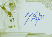 Mike Trout 2016 Topps Tribute Autograph Print Plate Yellow 1/1 Auto Free Ship
