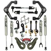 Cognito Bj Control Arm Leveling Kit 11-19 Gm 2500/3500hd - Stage 5 W/ Fox Shocks