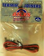 New O Atlas 7090 O Track System 2 Rail Nickel Silver Terminal Joiners 1 Pair