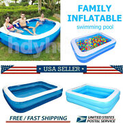 Family Inflatable Swimming Pool Outdoor Garden Summer Kid Adult Paddling Pool Us