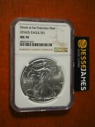 2016 S 1 American Silver Eagle Ngc Ms70 Struck At San Francisco Brown Label
