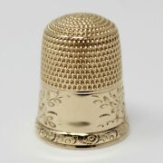 14 Kt Yellow Gold Late Victorian Sewing Thimble B0651