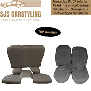 Seat Covers + Back Seat Foldable Grey For Mercedes Sl R/w107