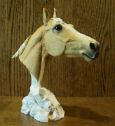 Castagna Figurines 0298 Palomino Horse Bust Made In Italy, Nib From Retail Store