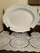 Mikasa Antique White Oval Serving Platter 14-inch