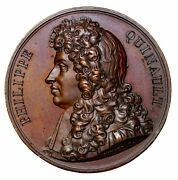 1822 France Poet Quinault Galerie Metallique Series French Medal By Vivier