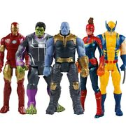 30cm Avengers Captain America Thor Hulk Wolverine Action Figures Kid Toy Collect