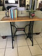 Singer Sewing Table Repurposed Vintage Antique  Furniture Up Cycle