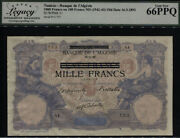 Tt Pk 31 1942-43 Tunisia 1000 Francs Lcg 66 Ppq Gem New Only Three Graded In 66