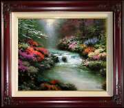 Thomas Kinkade Beside Still Waters 16x20 S/n Canvas - Double Signed