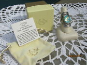 Lenox Sterling Silver Gold Leaf Turquoise Ring Size 10 Mib