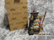 Jim Shore🎃 Halloween 2007 What Do I See Witch W/crystal Ball Mib 4008905