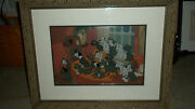 Disneyand039s 101 Dalmations Home At Last Le 23/ 375 Hand Painted Cel Rare Htf