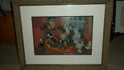 Disney's 101 Dalmations Home At Last Le 23/ 375 Hand Painted Cel Rare Htf