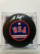 Steve Christoff Team Usa Olympic Signed Puck 1980 Miracle On Ice Player W/coa