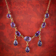 Vintage Amethyst Garland Necklace 9ct Gold Dated 1963