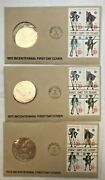 1975 Bicentennial First Day Cover 1775 Stamps Paul Revere Coin Lot Of 3