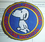 Patch - Snoopy Is The Number One Watch Dog - Us Cosflot 11 - Vietnam War - 3556