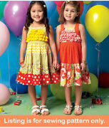 Sewing Pattern - Sew Girl Clothes Clothing - Dress Sundress Toddler Summer 7144