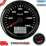 85mm Gps Speedometer 120km/h Odometer 8 Color Backlight Waterproof For Car Boat