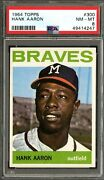 1964 Topps 300 Hank Aaron Braves Psa Nm-mt 8 - Strong Card Home Run King