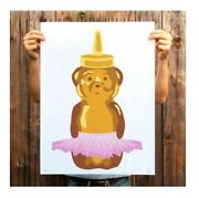 Fnnch Ballet Honey Bear Print 24x18 Limited Edition Signed And Numbered Fast Ship