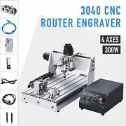 3040 Cnc Router Machine 4-axis Wood Cutter Engraver With Usb Port For Craftsman
