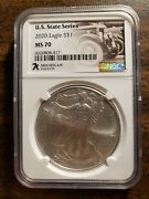 7k Michigan State Series Ms70 Silver Coin