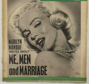 Marilyn Monroe Me Men And Marriage Interview Rare Tit-bits Magazine Uk 1960and039s