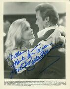 Priscilla Barnes Hand Signed Vintage Photo Sunday Lovers W Roger Moore
