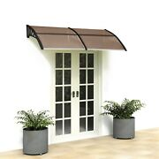 Outdoor Patio Window Front Door Awnings Canopy Cover Snow Rain Protector Shade