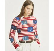 Nwt Polo Usa Novelty American Flag Knit Sweater Size Small S