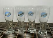 Blue Moon 16 Oz Pilsner Beer Glass Mixed Lot Of 4 Glasses 3 Different Styles