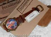 Long Ago Unused Disney Pocahontas Leather Pouch And Quality Watch Key Ring