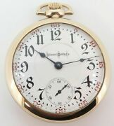 .1902 Illinois Bunn Special 24 Jewel Gold Filled 18s Of Railroad Pocket Watch