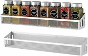 Spice Rack Organizer For Cabinets 2 Pack Wall Mount Spice Seasoning Jars Shelf