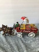 Coca Cola - Cast Iron Horse And Buggy Wagon